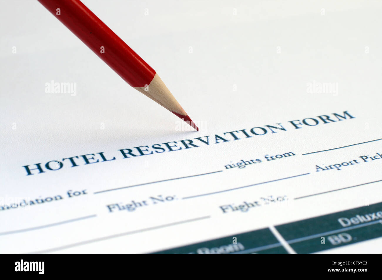 Hotel reservation form stock photos hotel reservation form stock hotel reservation form stock image thecheapjerseys Choice Image