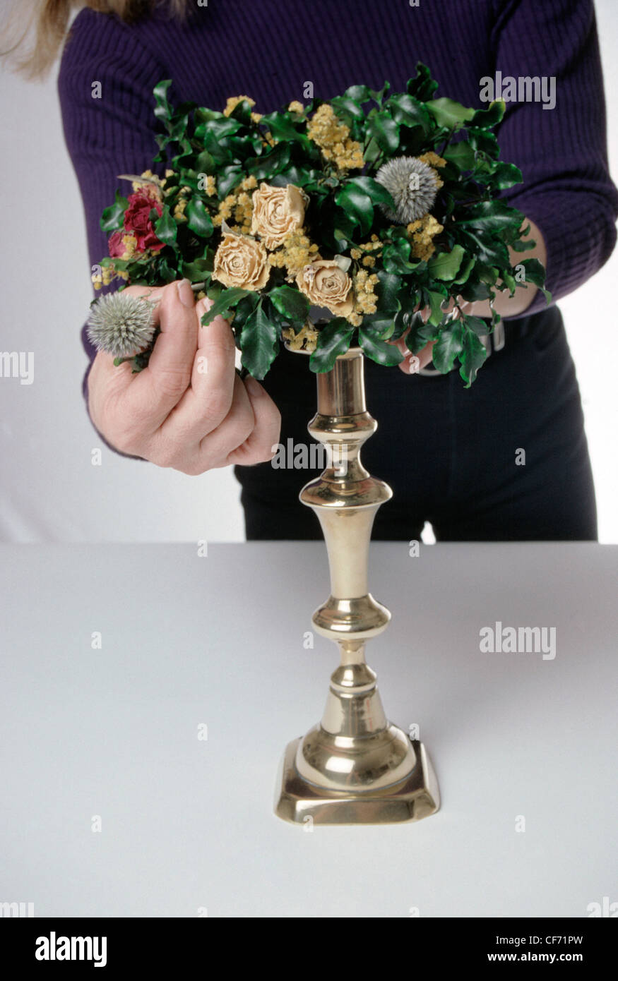 Candle Flower Ring This Beautiful Flower Arrangement And Candlestick