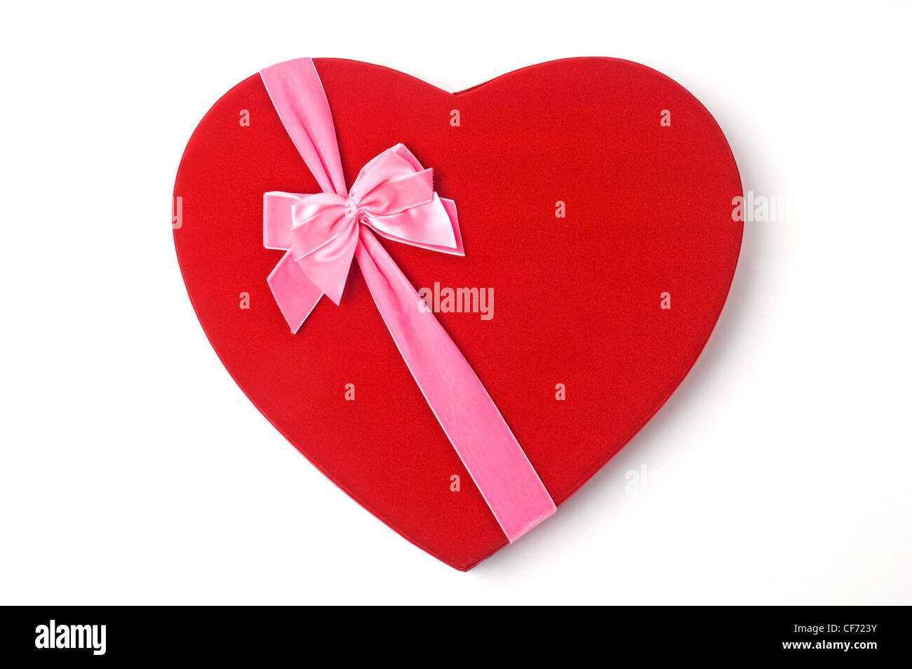 Valentine S Day Red Heart Shaped Box Of Chocolates Tied With Pink
