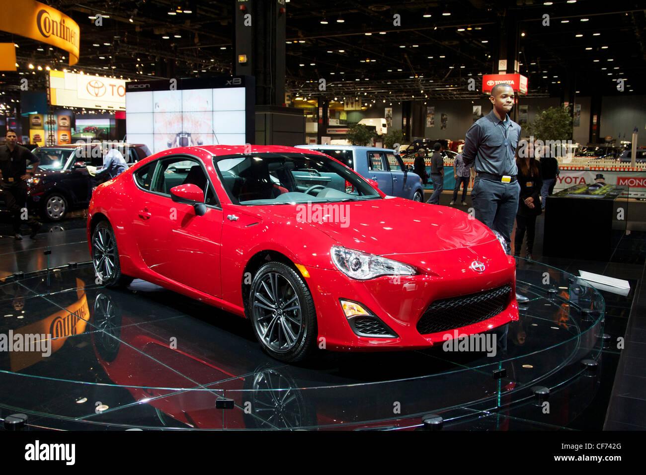 2013 Scion FR-S. 2012 Chicago Auto Show. - Stock Image