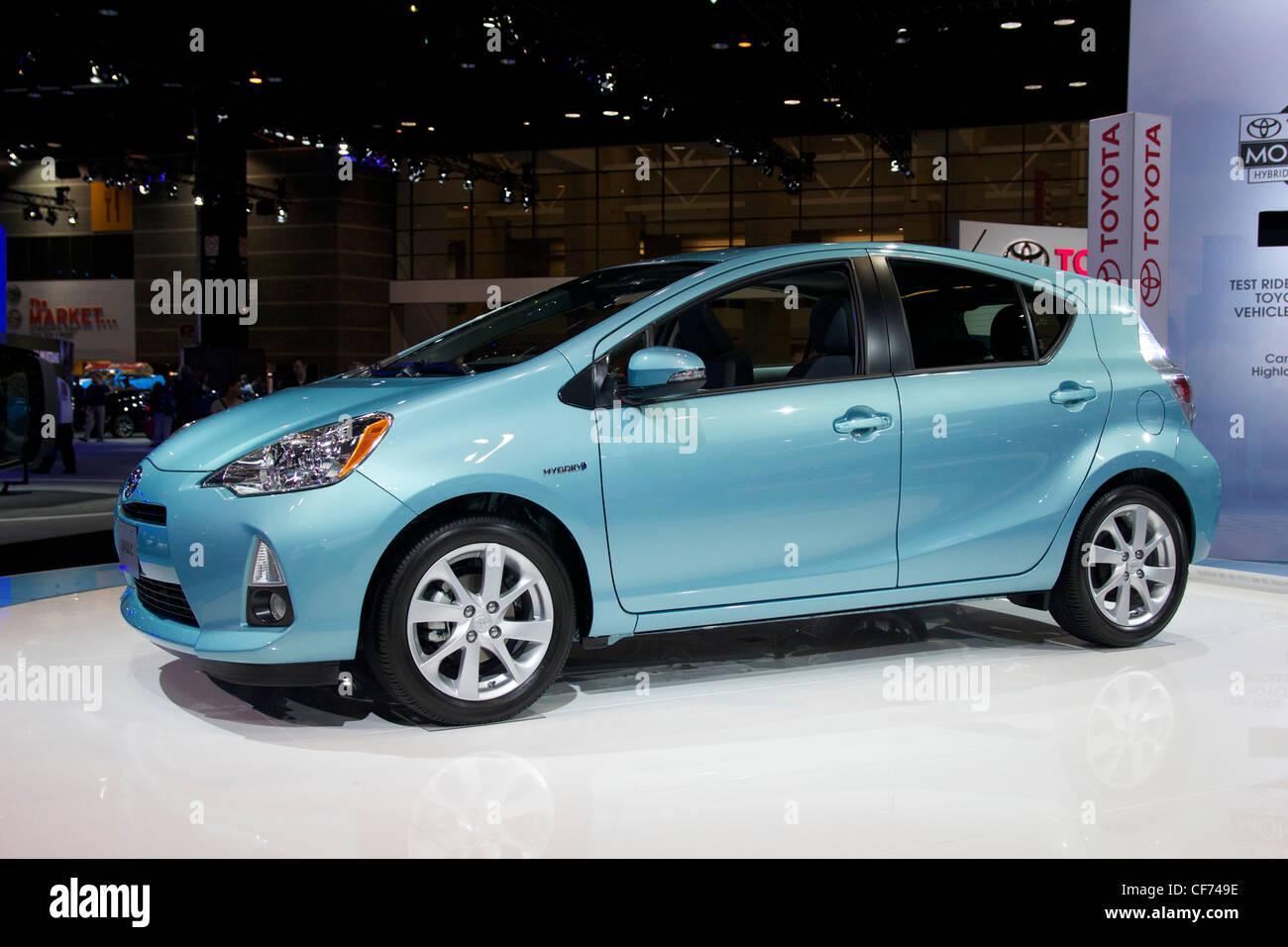 Toyota Prius C. 2012 Chicago Auto Show. - Stock Image