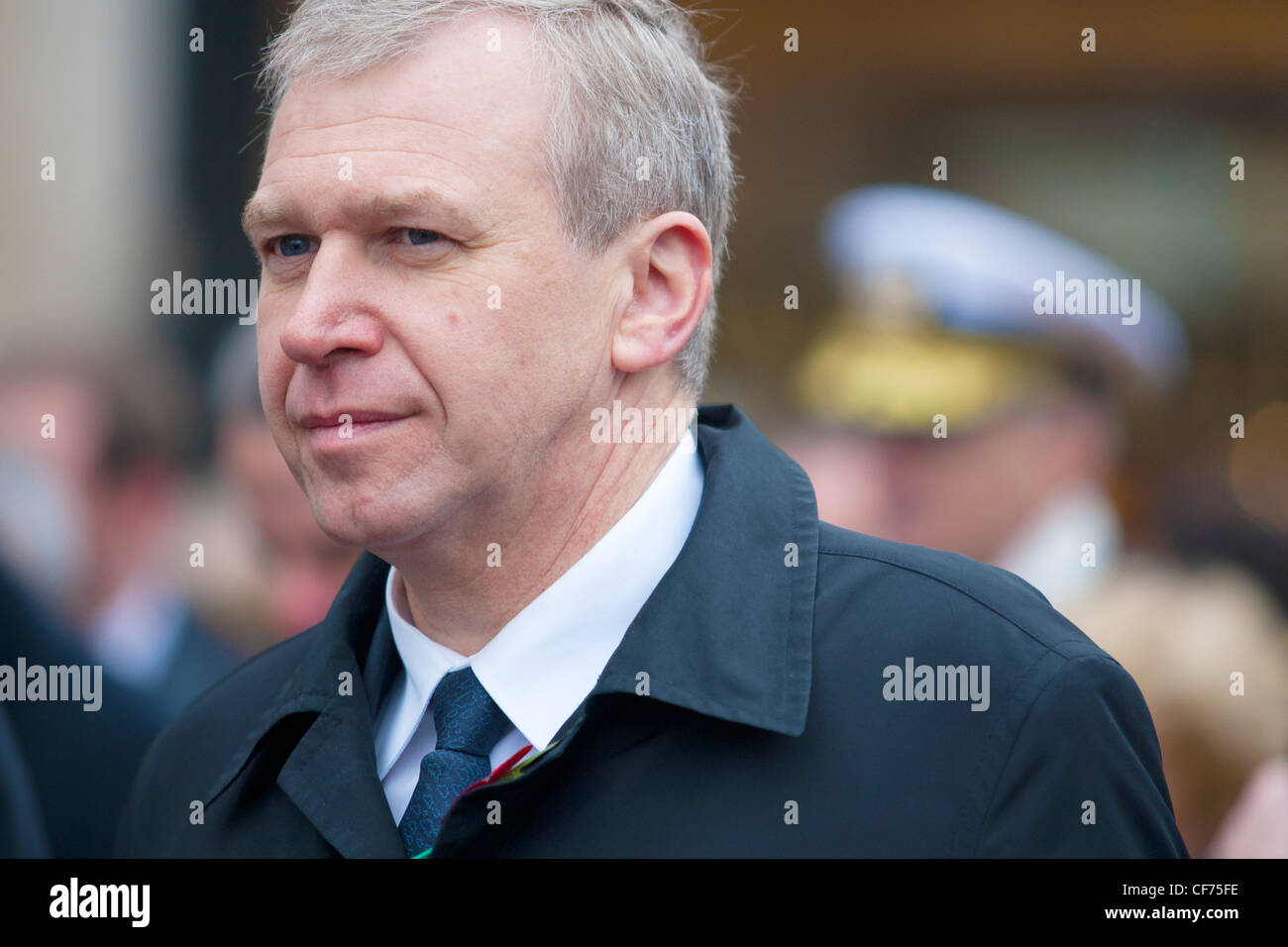 Mr. Yves Leterme at the 11 November 2011 remembrance in Ypres. Then he was prime minister Belgium - Stock Image
