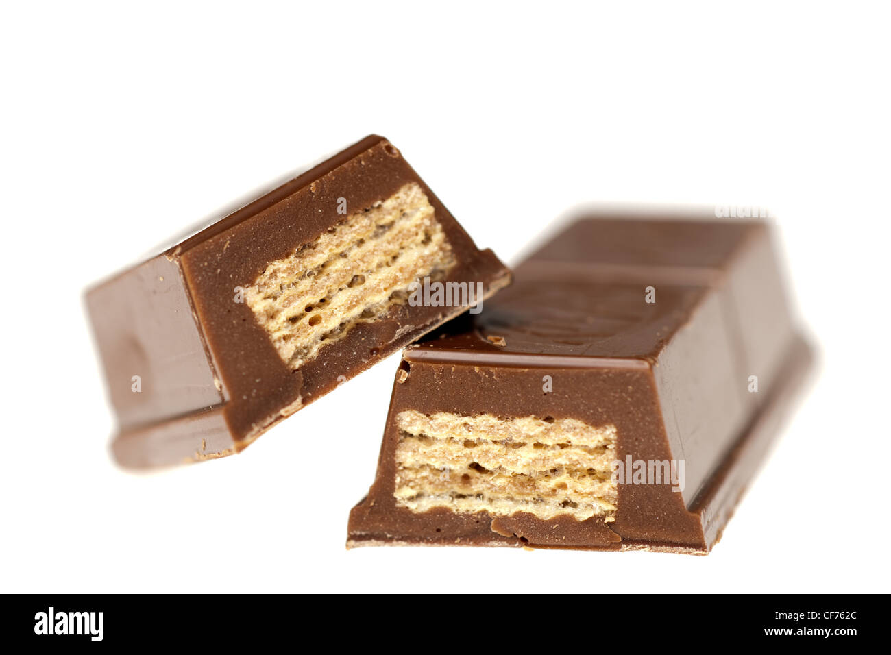 Thick chocolate wafer bar - Stock Image