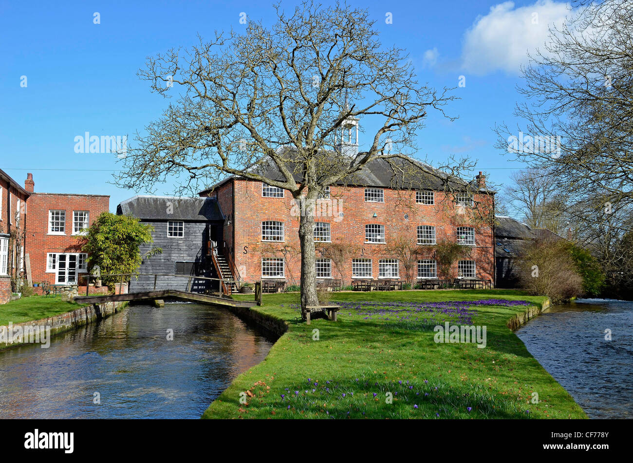 Whitchurch Silk Mill hampshire - Stock Image