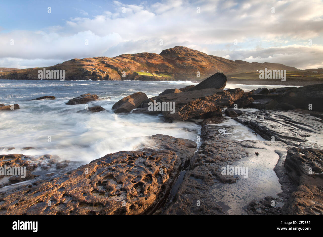 Muckross Head is a small peninsula about 10 km west of Killybegs, - Stock Image