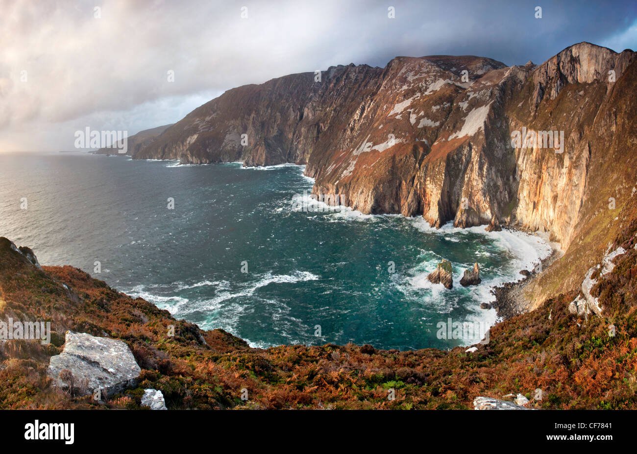 Slieve League cliffs, situated on the West coast of Donegal Stock Photo