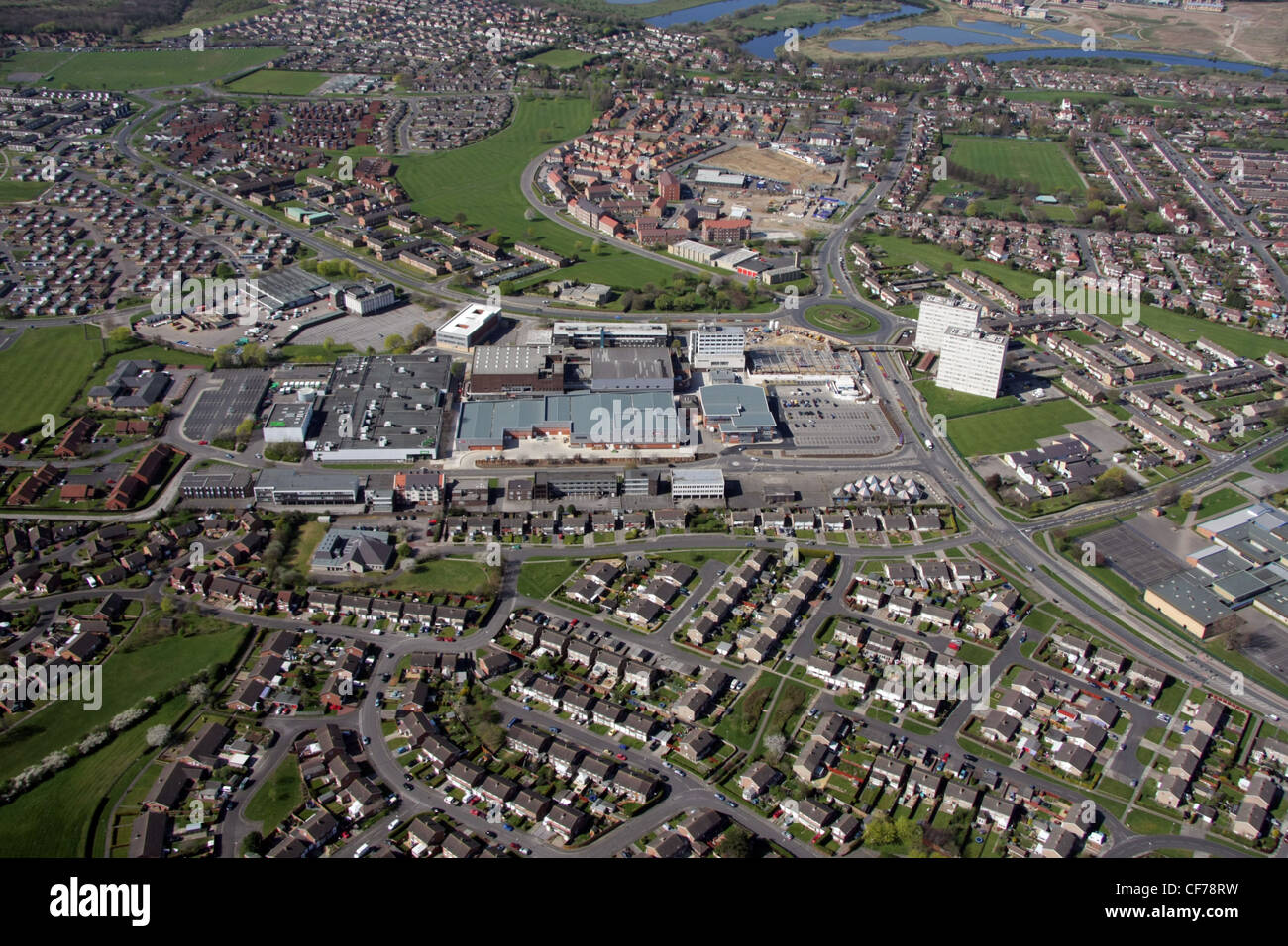 Aerial view of Thornaby-on-Tees - Stock Image