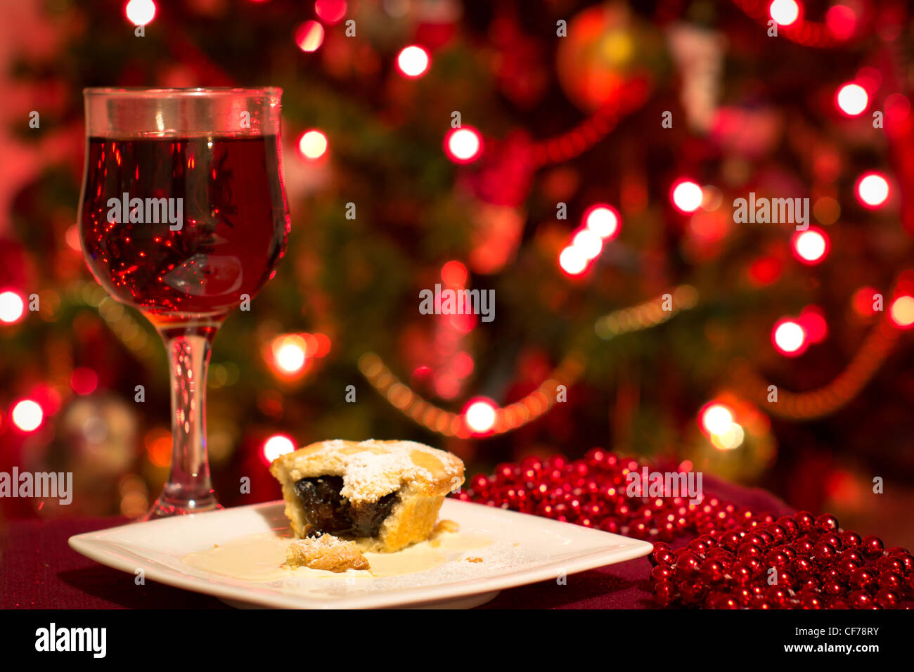 Picture with a classic Christmas feel to it. - Stock Image
