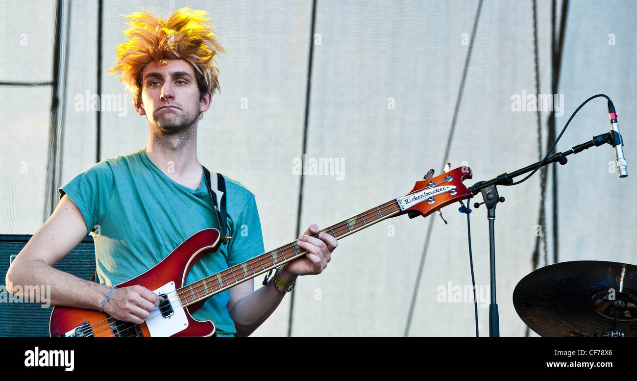 MGMT at Voodoo Festival 2010 in New Orleans. - Stock Image