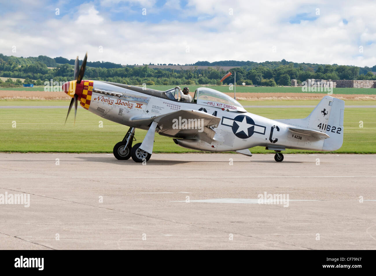 P-51D  mustang 'Nooky Booky iv' - Stock Image