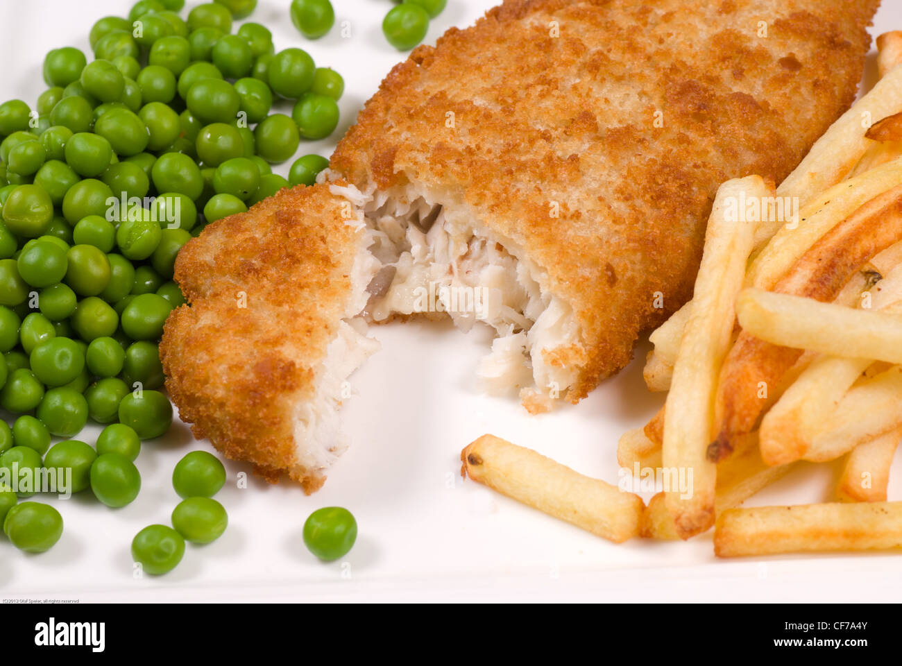 Fish and chips, the true English classic - Stock Image