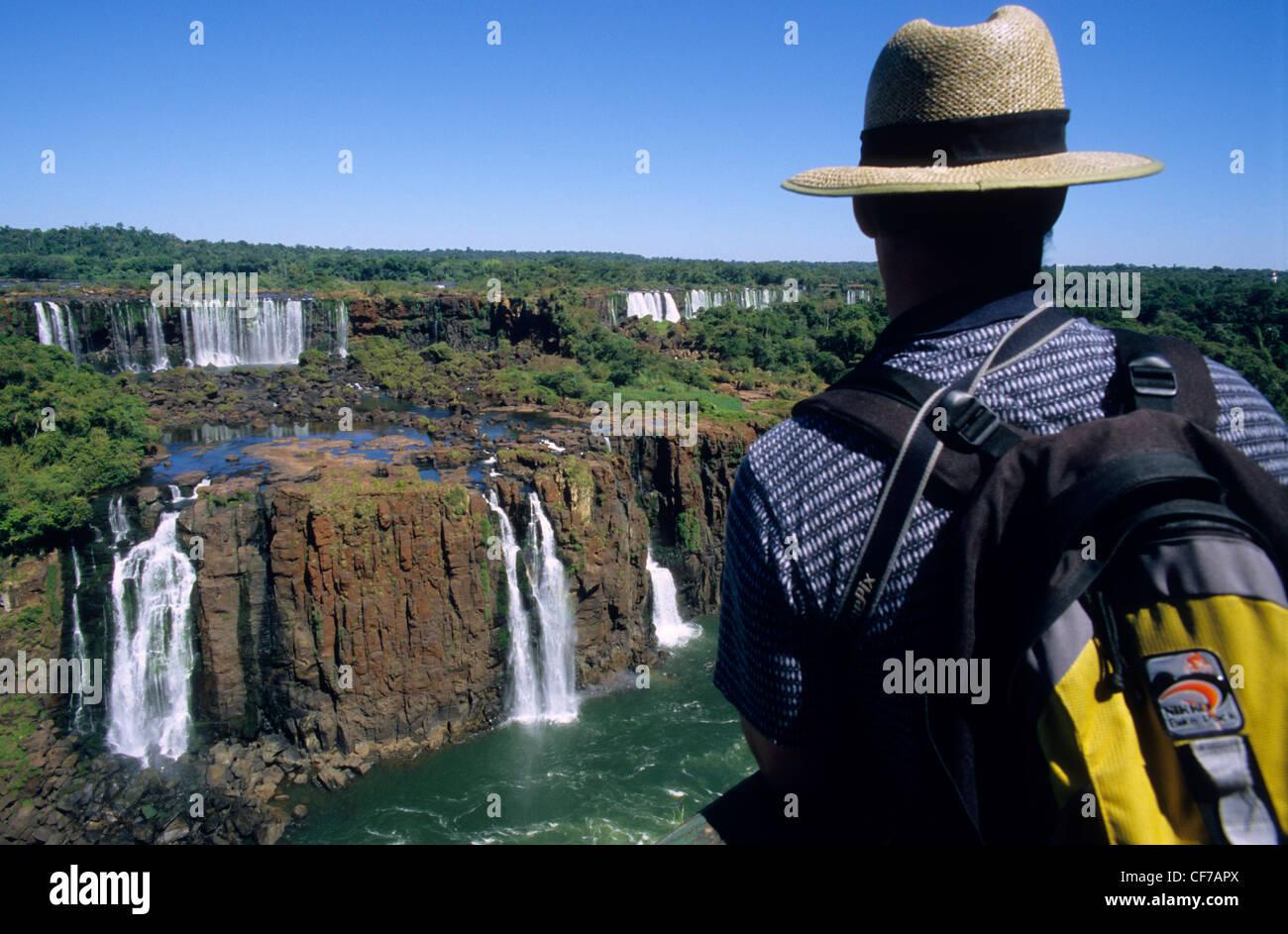 Iguazu falls ,  Misiones province. Argentina. South America. - Stock Image