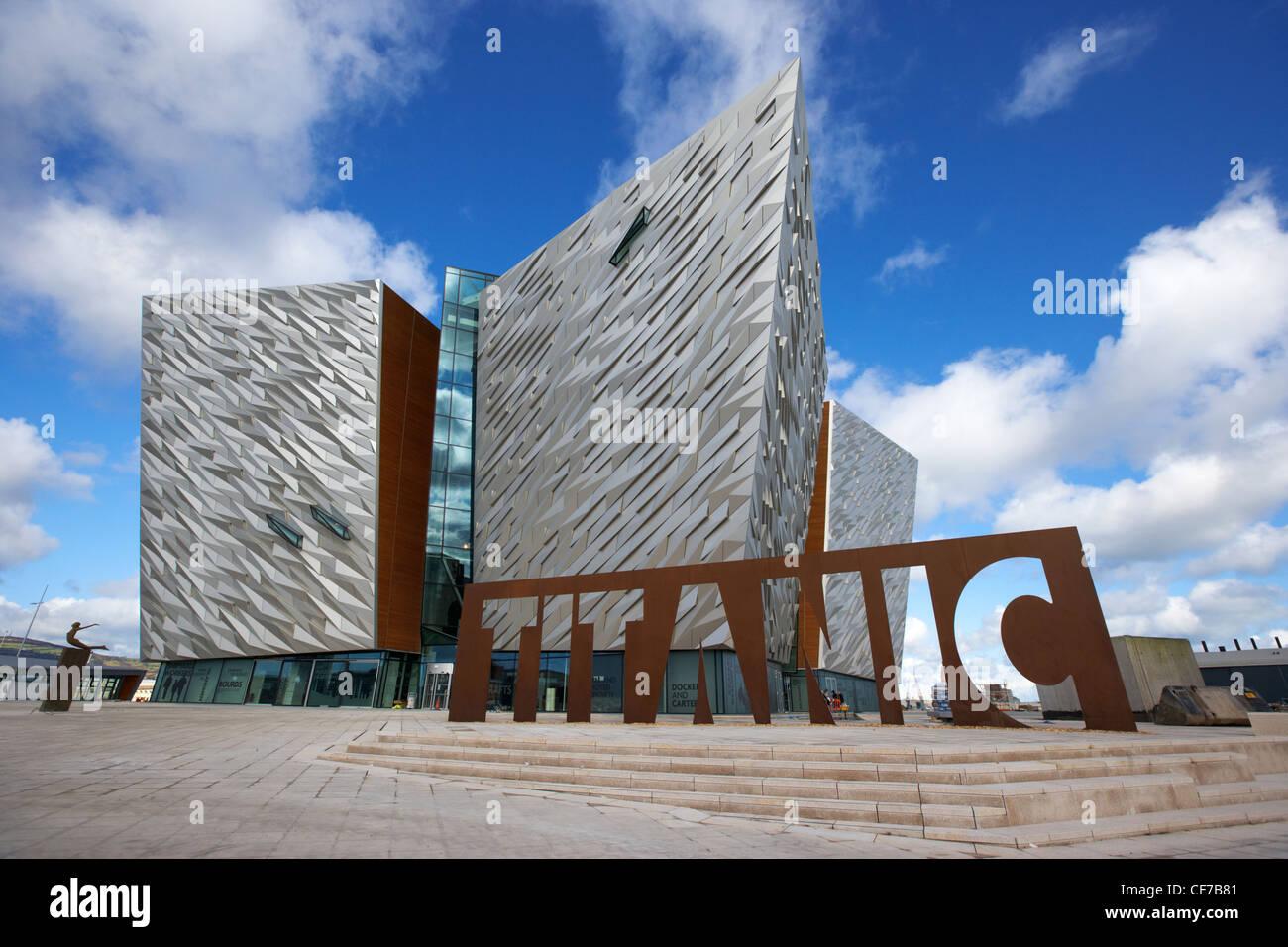 titanic signature building museum titanic quarter belfast northern ireland - Stock Image