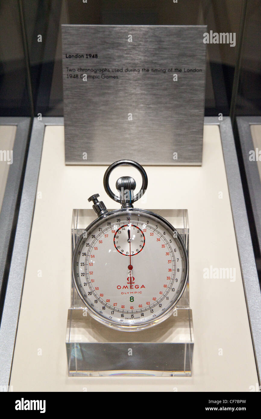 Omega Chronograph (timer, stopwatch) used during the timing of the Olympic Games, london 1948 - Stock Image
