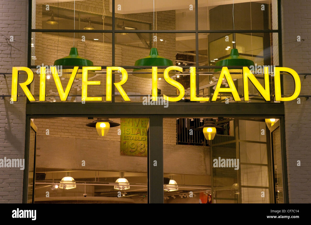 River Island store sign UK Stock Photo