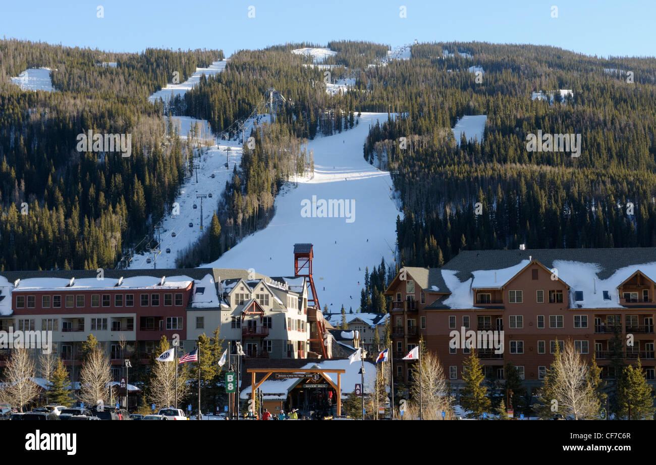 keystone ski resort, keystone, colorado. view from river run village