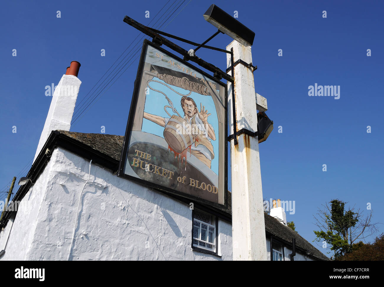 The Bucket of Blood pub at Phillack near Hayle in Cornwall, UK - Stock Image