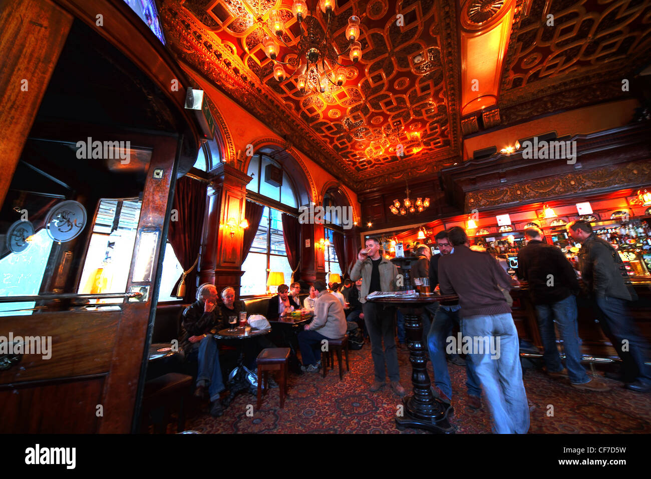 The interior of the Guildford Arms, traditional pub,West register place, Edinburgh, Lothians, Scotland, UK Stock Photo