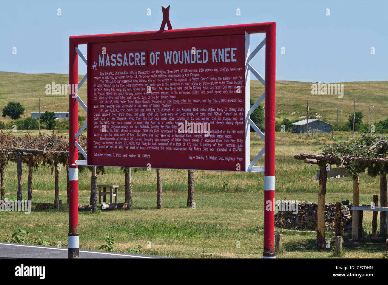Wounded Knee Americans Oglala Sioux South Dakota in USA Stock Photo