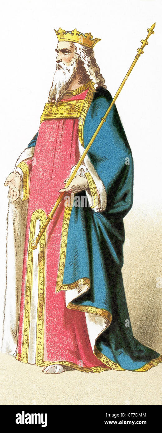 The figure represents the English king Edward III in the year of his death in 1377. The Hundred Years War dominated - Stock Image