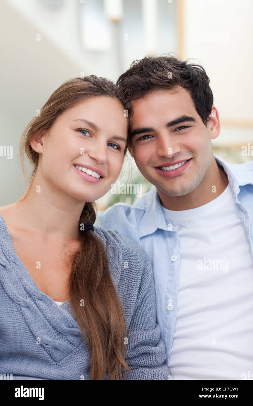 Portrait of a lovely couple - Stock Image