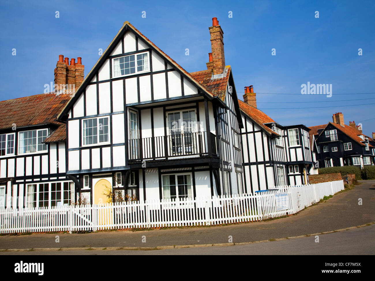 Mock Tudor houses in Thorpeness, Suffolk, England - Stock Image