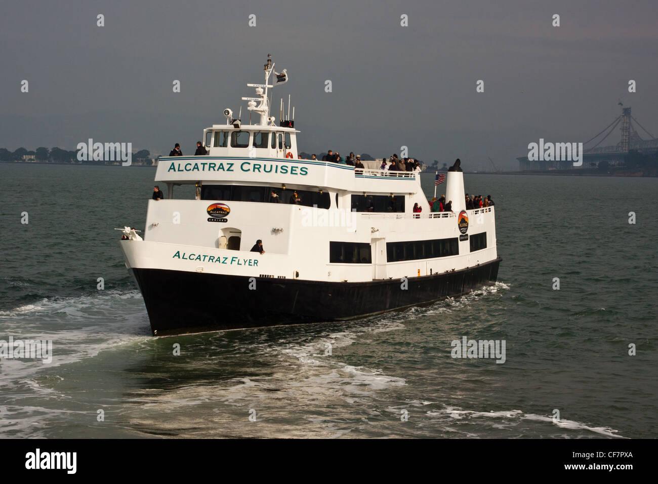 alcatraz ferry boat,alcatraz cruises,san francisco,usa stock photo