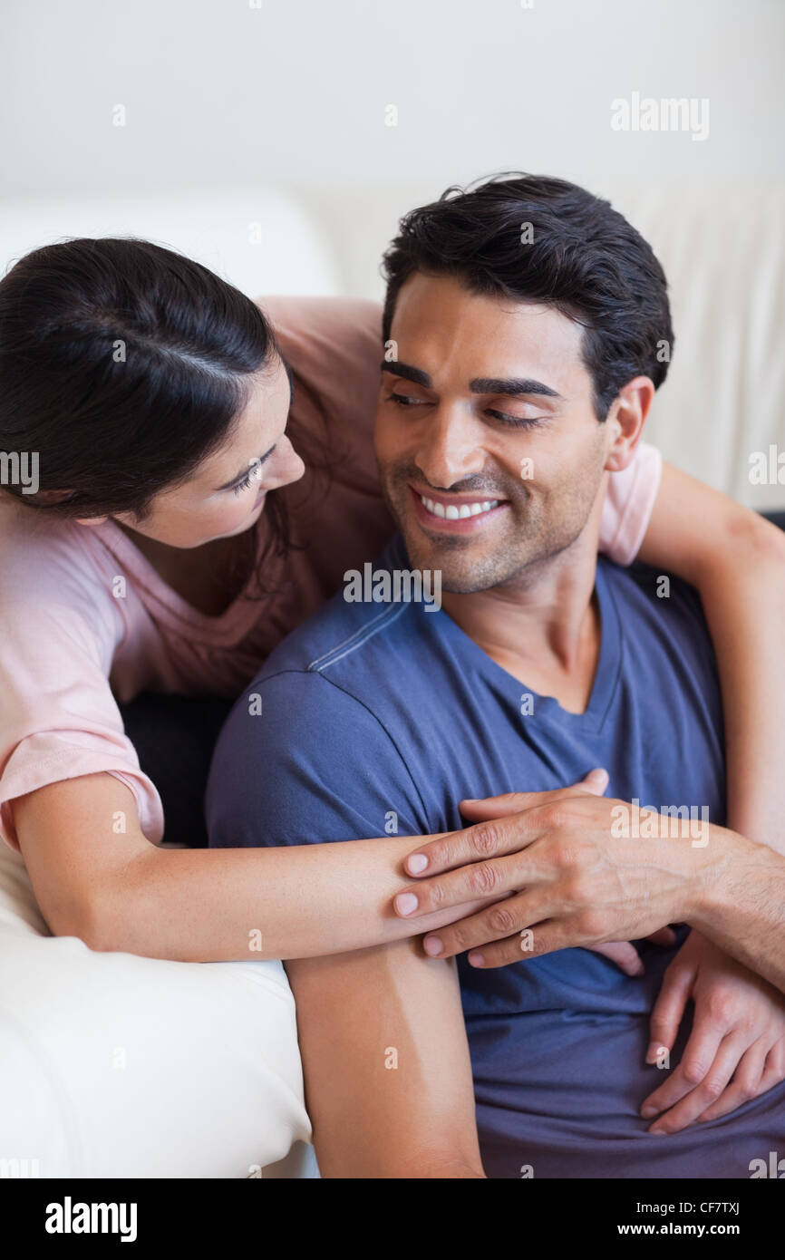 Portrait of a charming couple posing - Stock Image