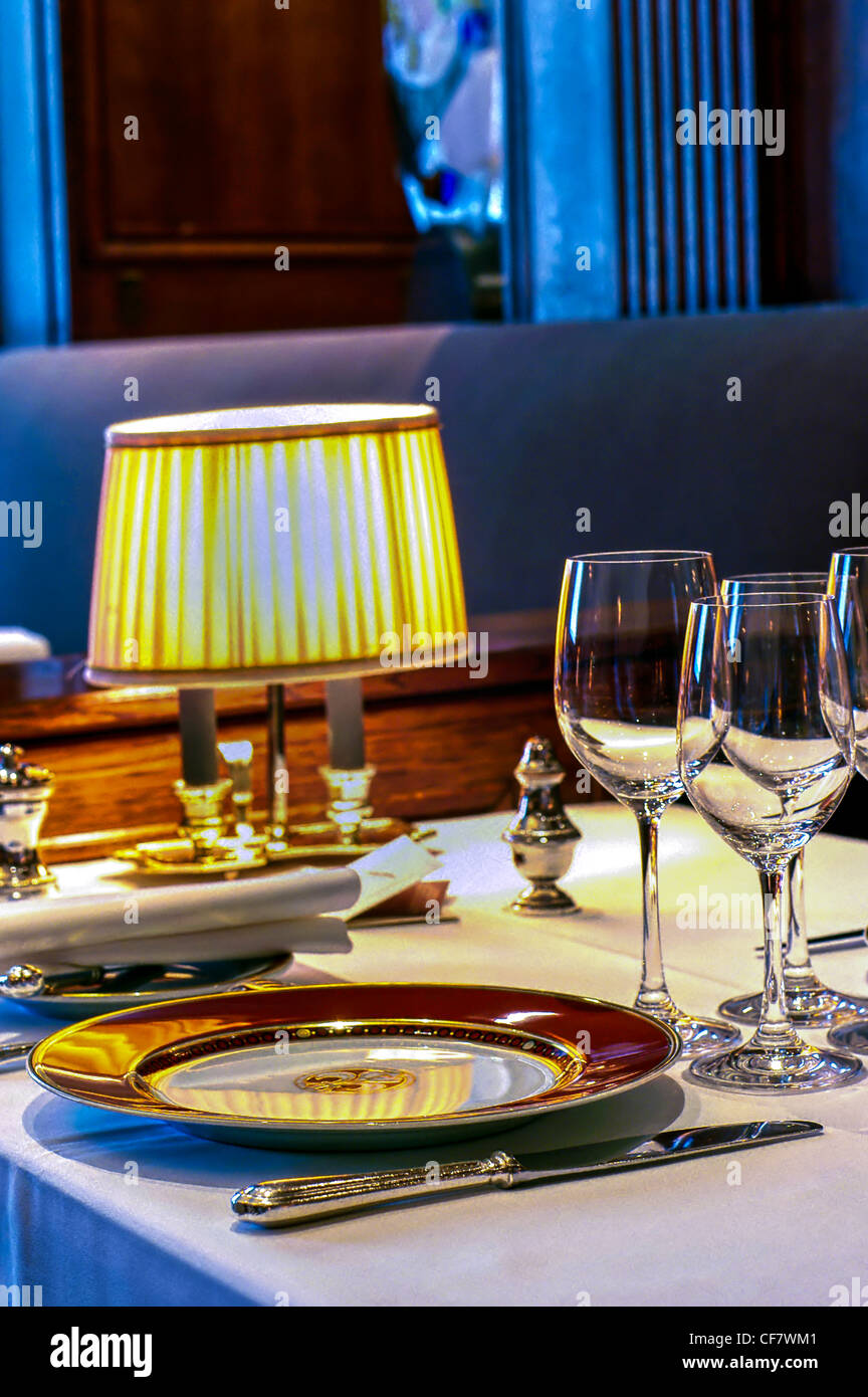 Paris fancy tables stock photos