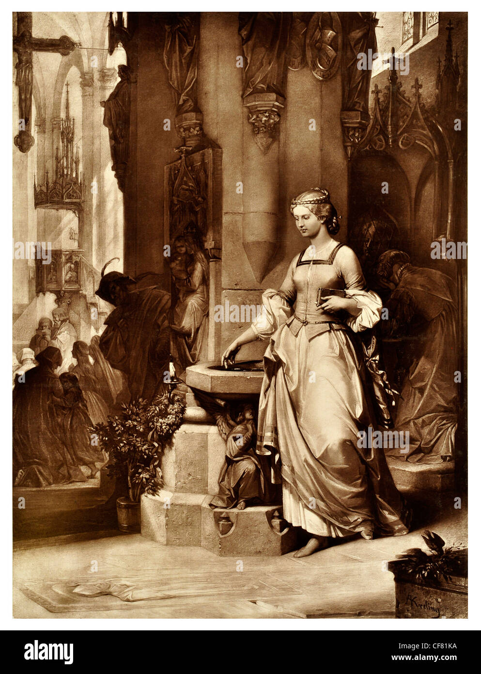 Faust  Johann Wolfgang von Goethe A tragedy 1870 period costume magical magic tale legend myth story drama theatre Stock Photo