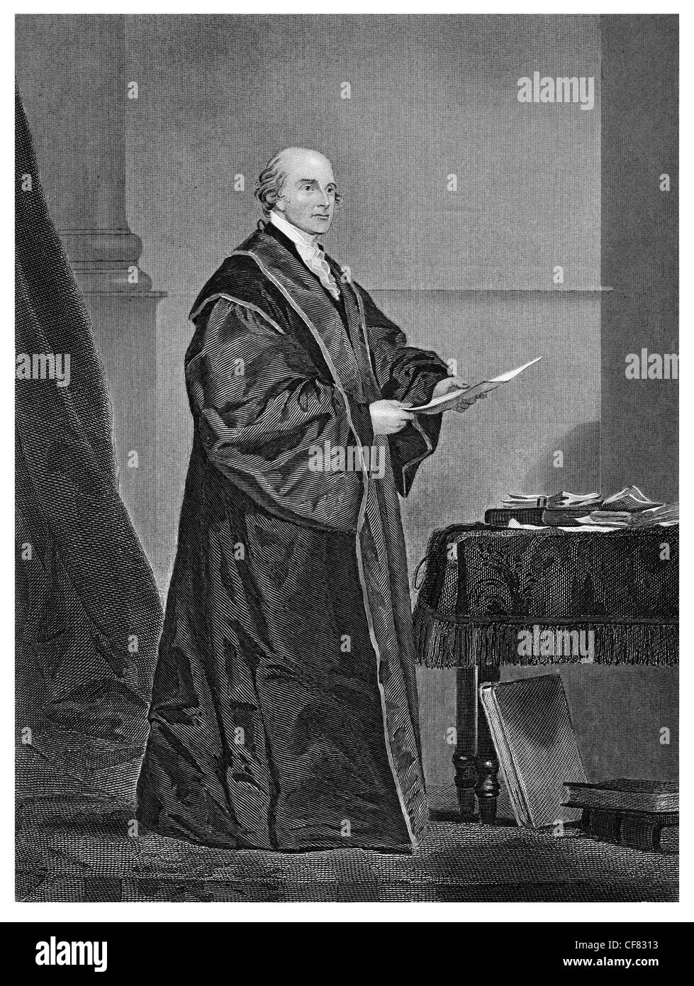 John Love first chief justice politician and lawyer from Virginia. - Stock Image