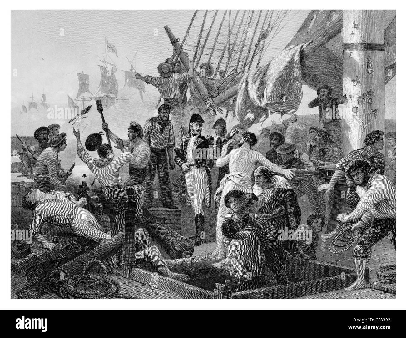 Battle of Lake Champlain Battle of Plattsburgh McDonough's Victory - Stock Image