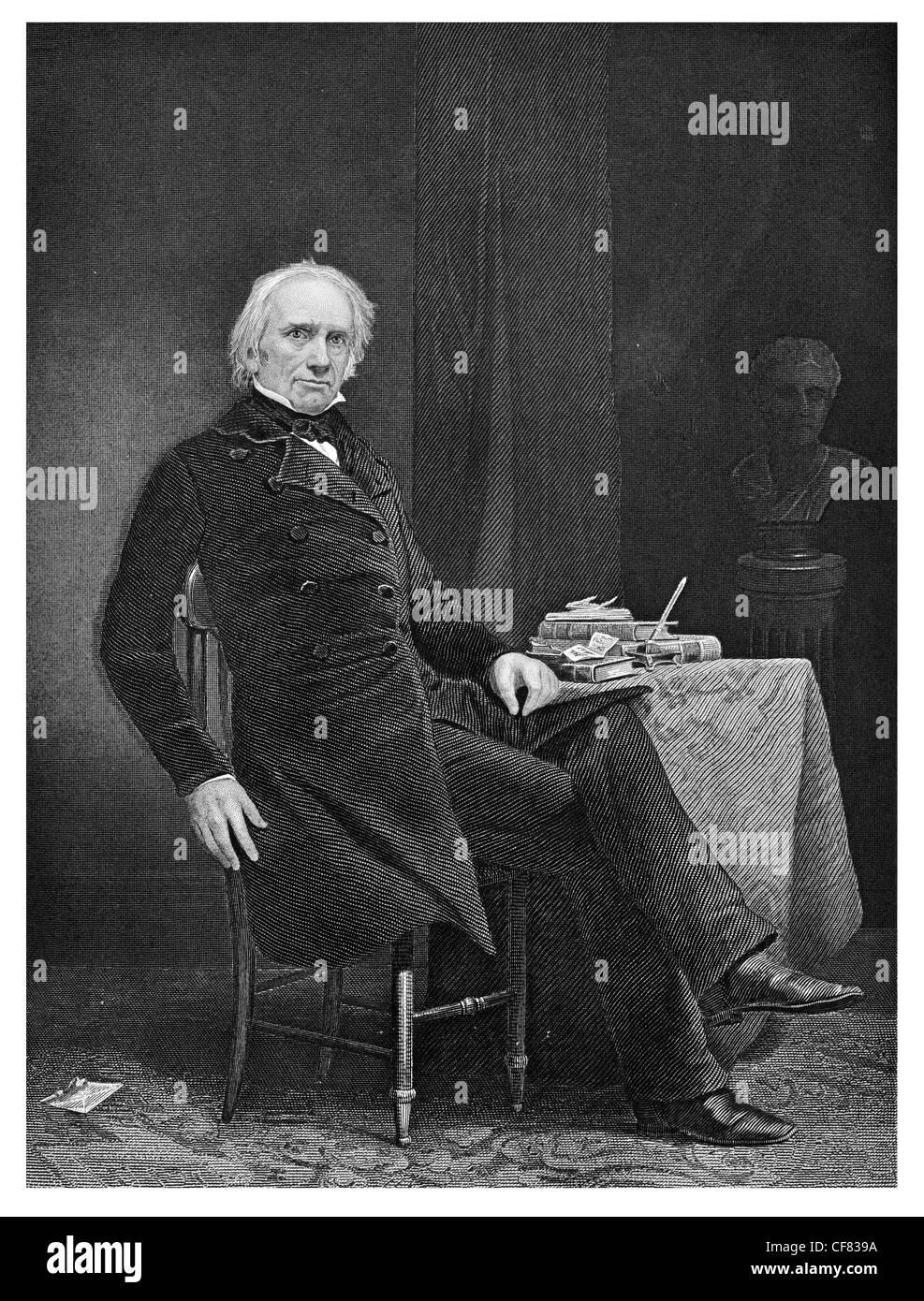 Henry Clay  1777 to 1852 American politician  statesman, orator, Senator - Stock Image