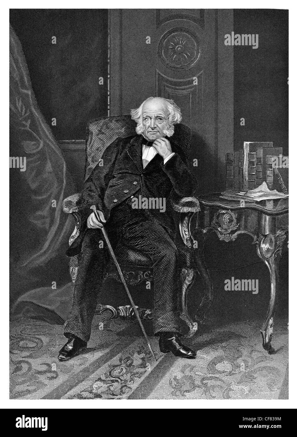 Martin Van Buren Democratic party 1782 to 1862 8th president of the United  States