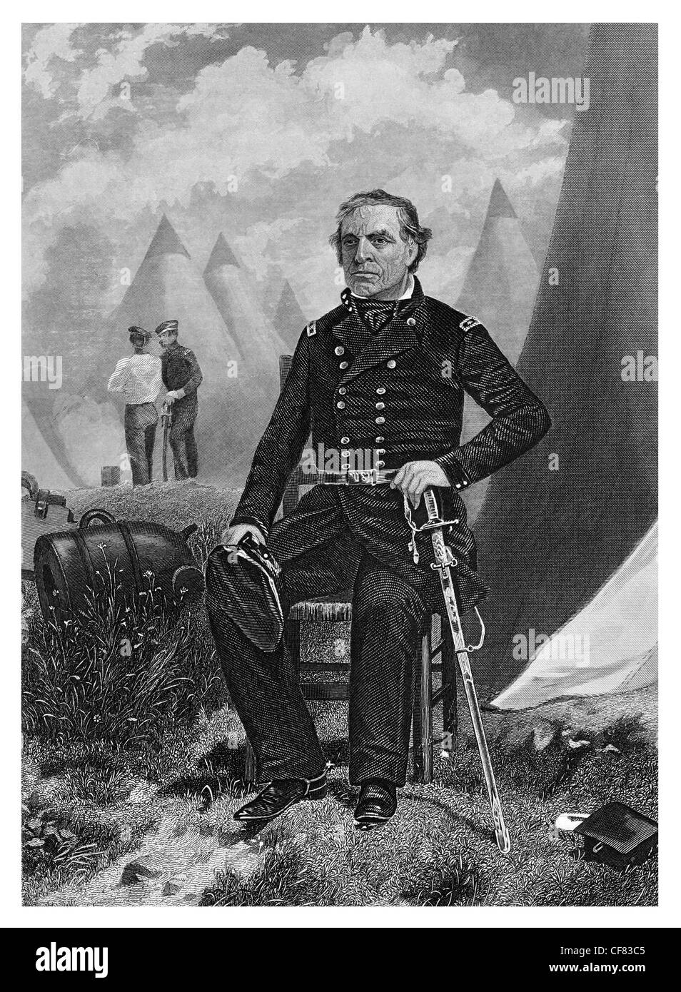 Zachary Taylor U.S. Army Major general whig 1784 to 1850 12th president of the United States 1849 to 1850 - Stock Image