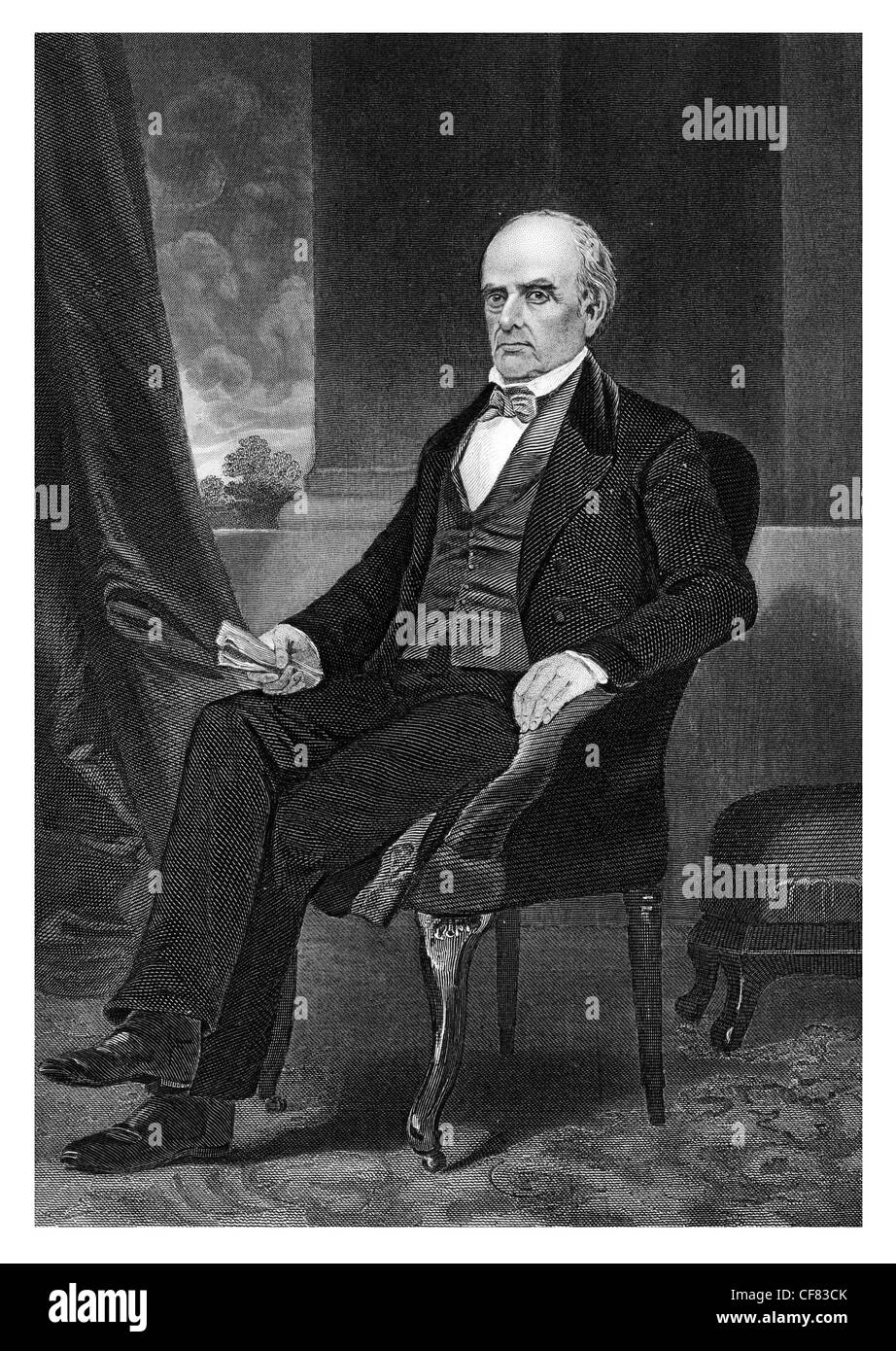 Daniel Webster 1792 to 1852 American orator and politician - Stock Image