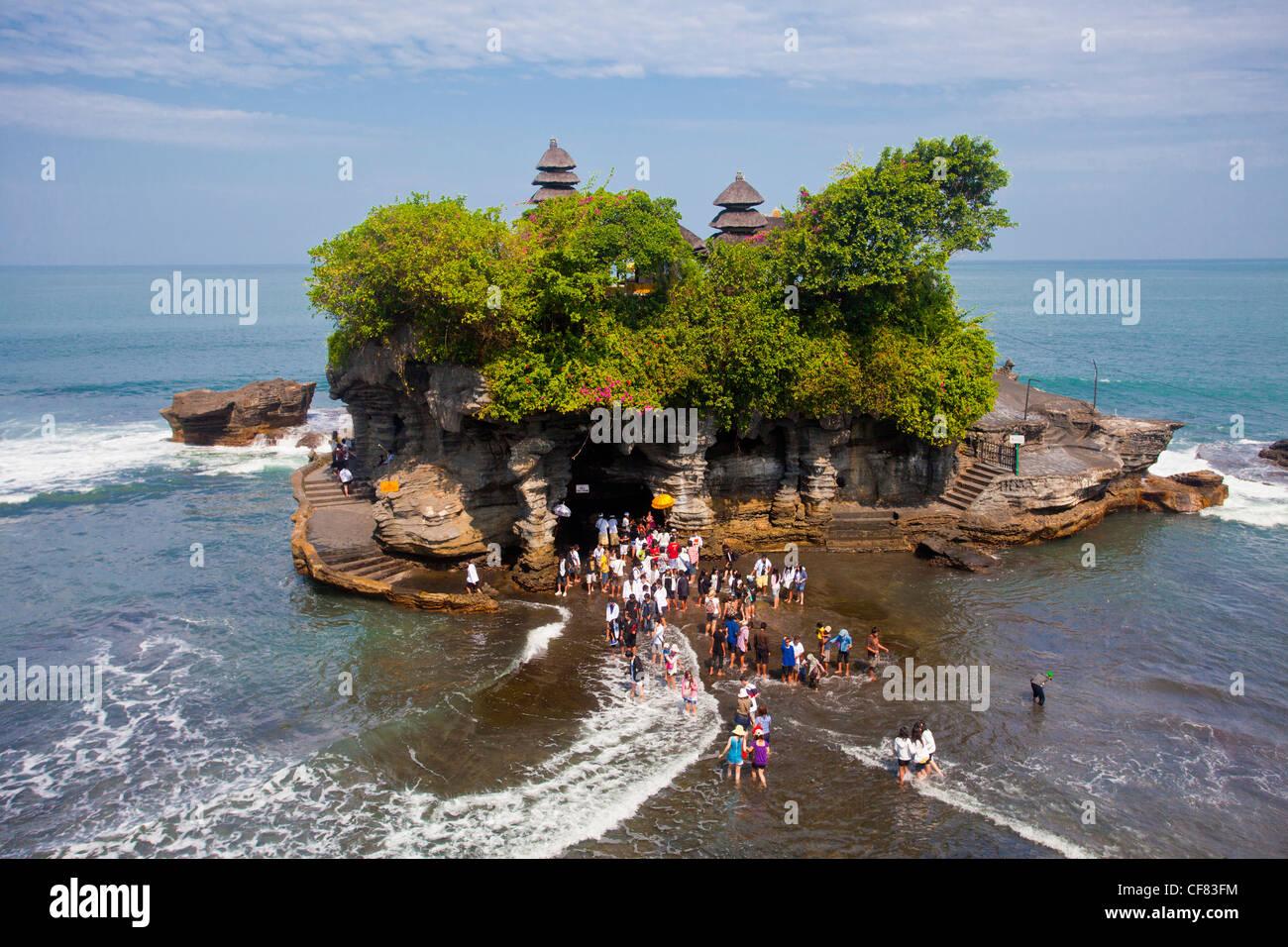 Indonesia Asia Bali Island Tanah Lot Sea Temple Tourism Stock