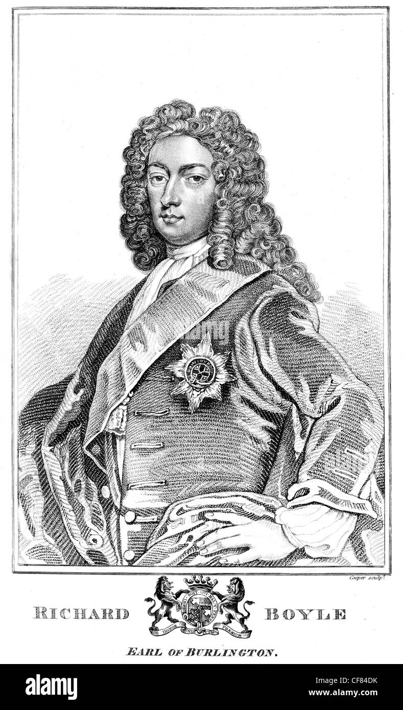 Richard Boyle 3rd Earl of Burlington 4th Earl of Cork PC 1694 1753 Privy Councillor House of Lords - Stock Image