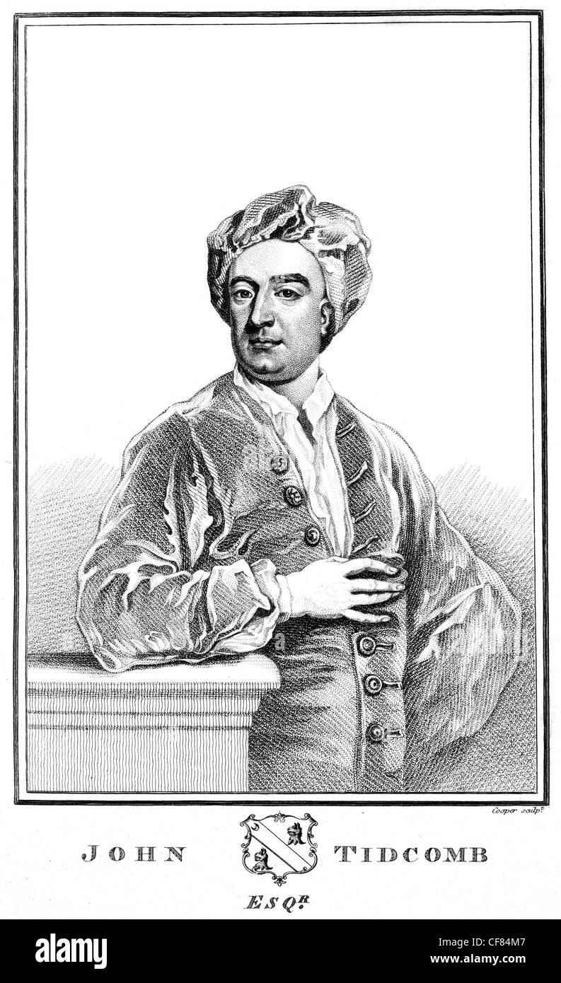 John Tidcomb John Faber Junior 1695 1756 Dutch portrait engraver - Stock Image