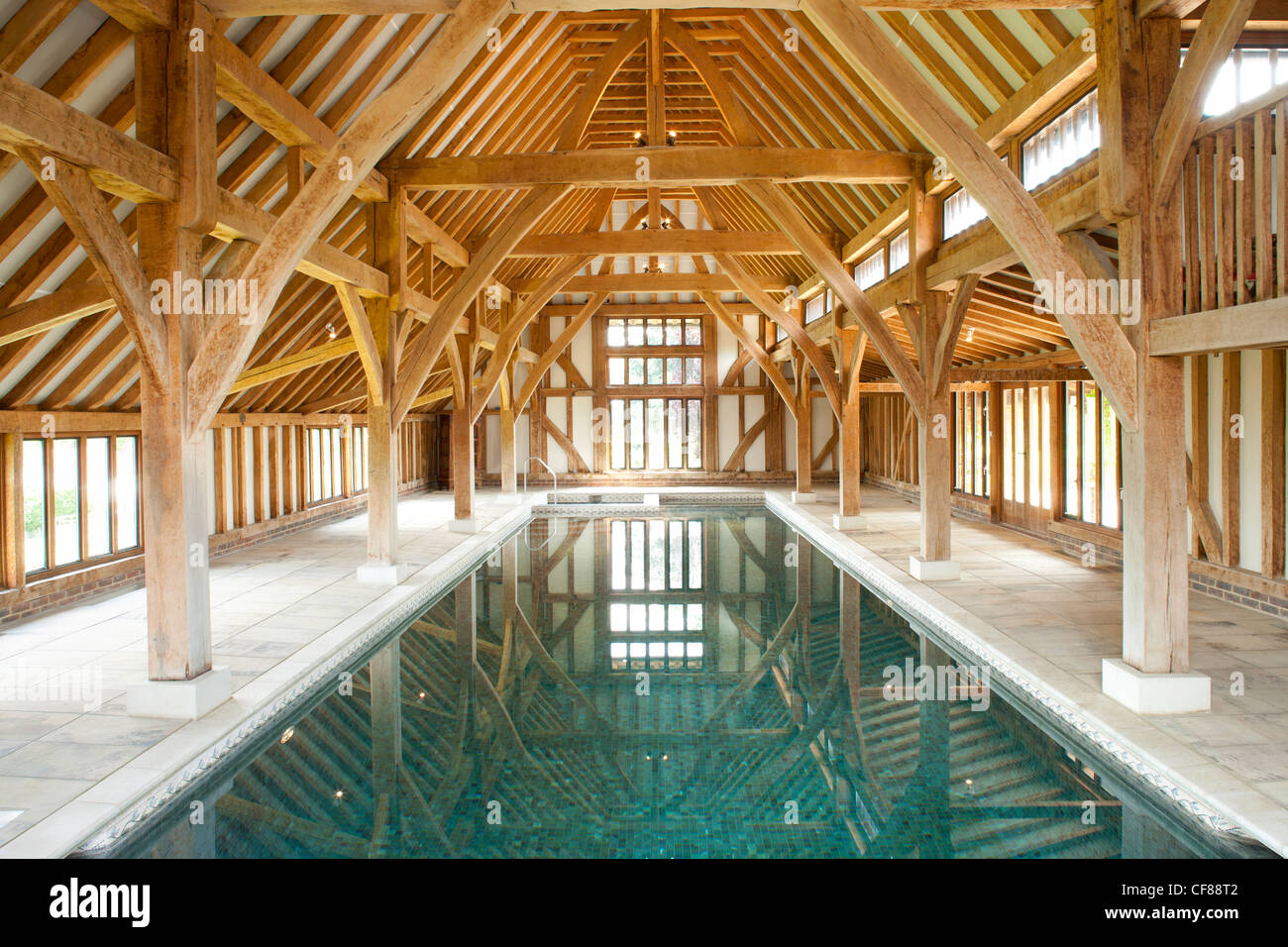 Indoor swimming pool in barn conversion with beautiful for Swimming pool conversion
