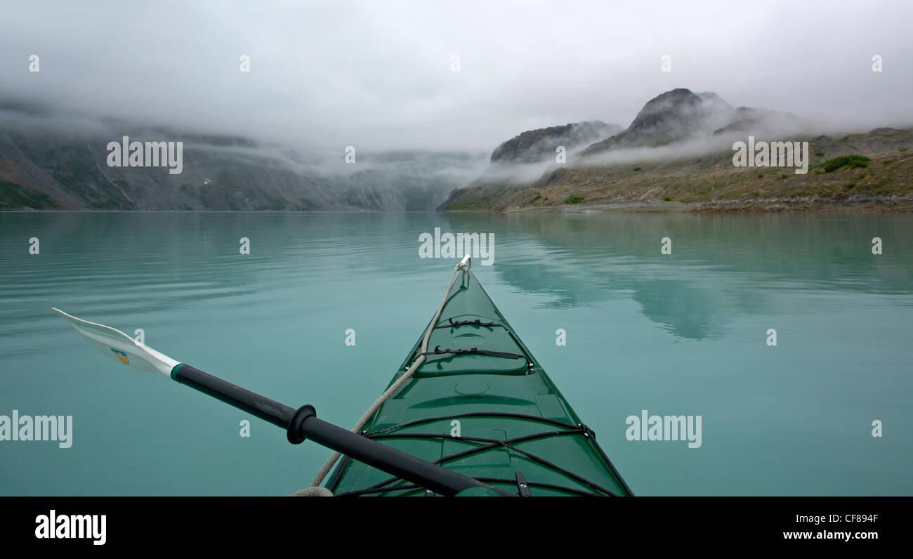 Kayaking in Glacier Bay. Alaska. USA - Stock Image