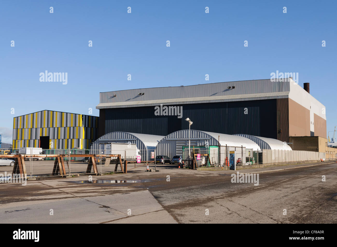 Paint Hall, Belfast - one of the largest film production studios in the world and main set for Game of Thrones internal - Stock Image