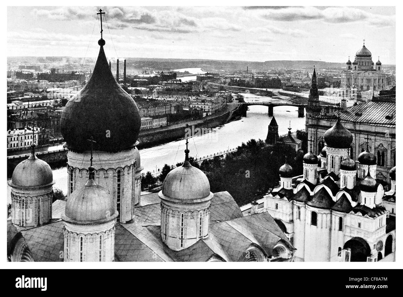 Little Mother Moscow Ivan Veliki Tower Kremlin - Stock Image