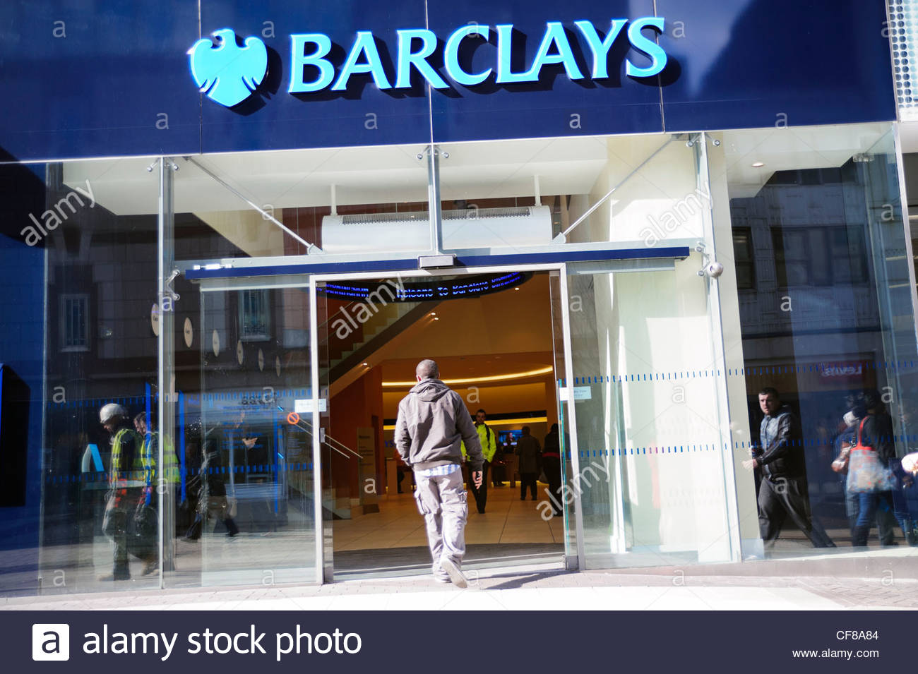 Barclays bank Birmingham, UK. - Stock Image