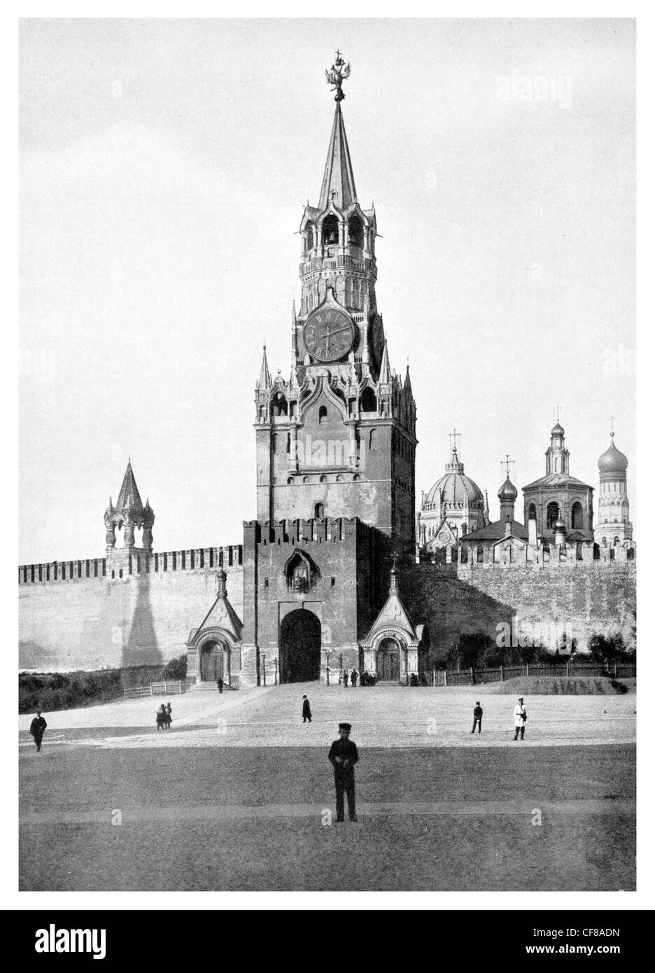 1926 Former State Entrance to the Kremlin Troitskaya Trinity Tower - Stock Image