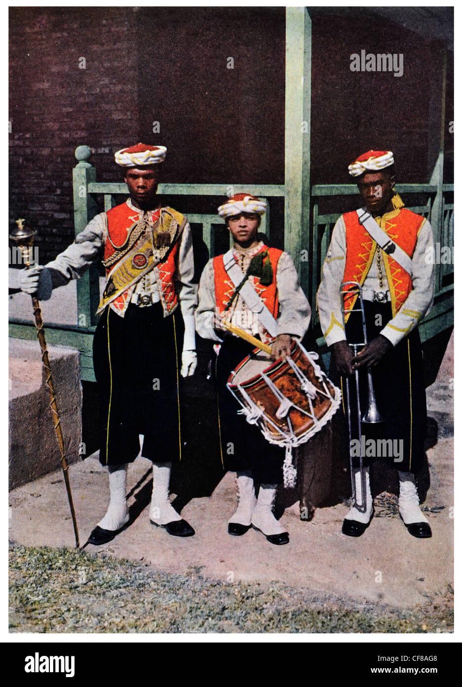 1927 West Indian Regiment Dress uniform - Stock Image