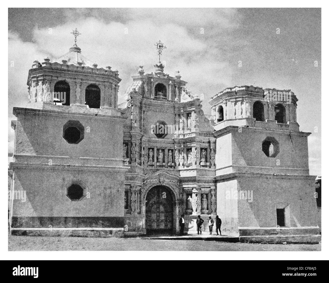 1926 Old Church of Ciudad Vieja Guatemalan department of Sacatepéquez - Stock Image