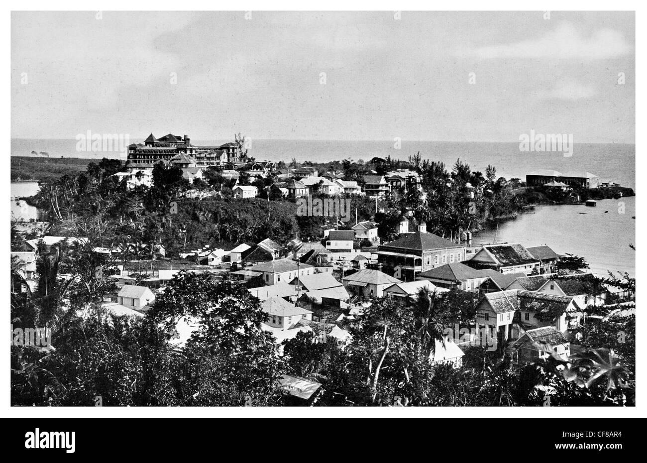 1927 northern jamaica port antonio stock image