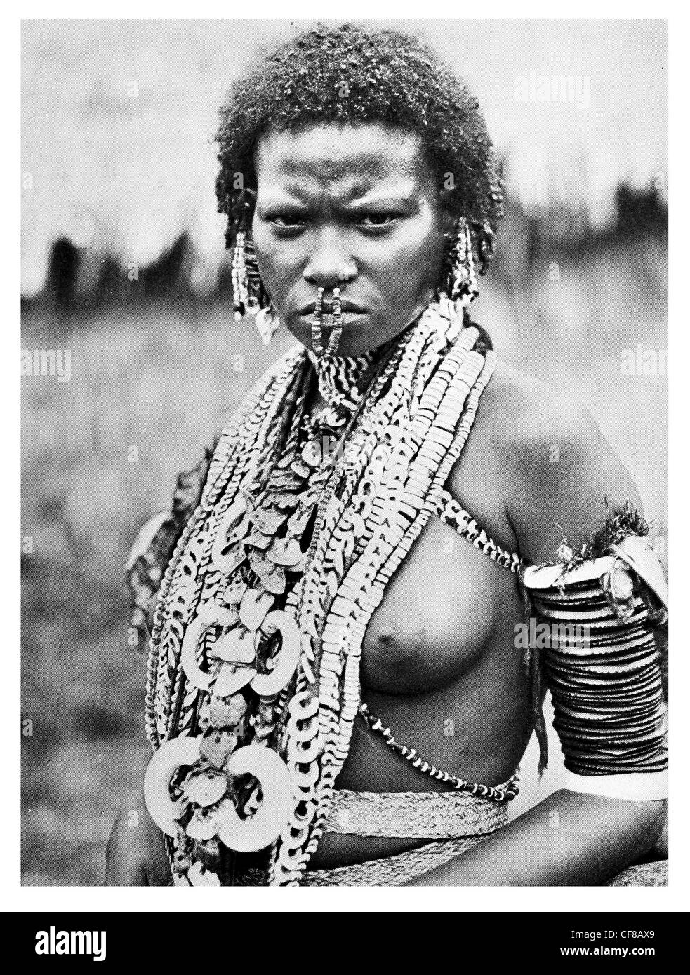 Papuan heiress family jewels New Guinea 1927 - Stock Image