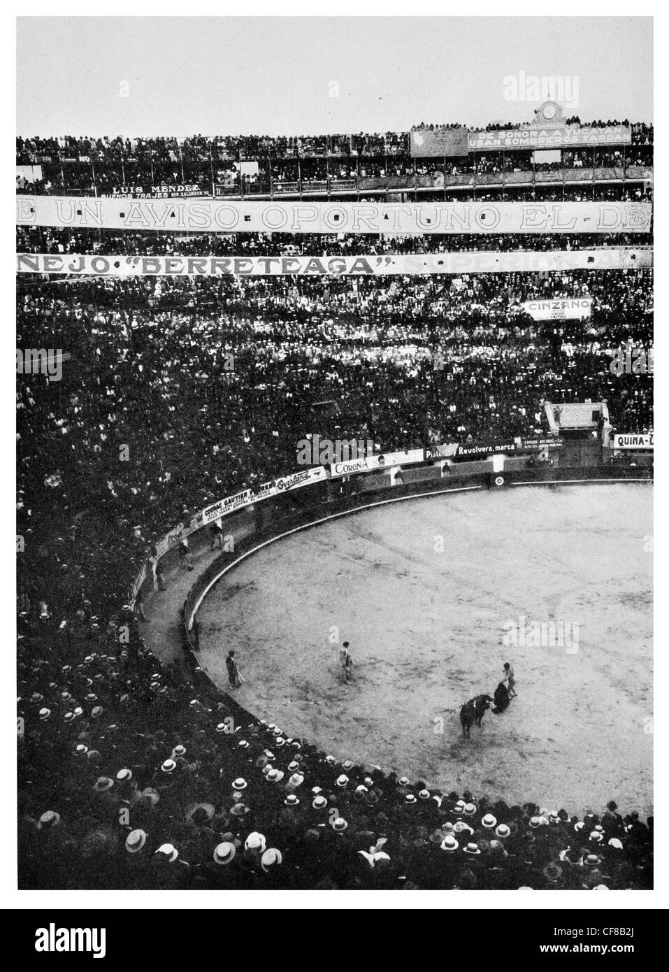 Bull ring Mexico City Matadors 1927 - Stock Image